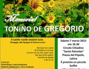 Secondo Memorial Tonino De Gregorio